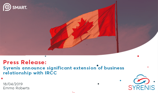 Syrenis announce extension of business relationship with IRCC