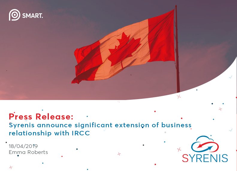 Syrenis announce significant extension of business relationship with IRCC