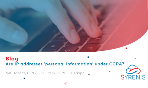Are IP addresses 'personal information' under CCPA?