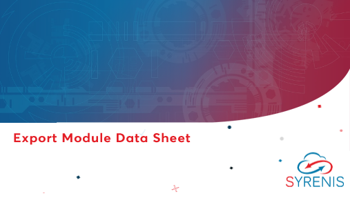 Export Module Data Sheet