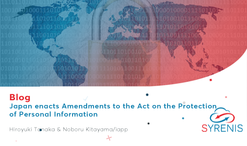 Japan enacts Amendments to the Act on the Protection of Personal Information