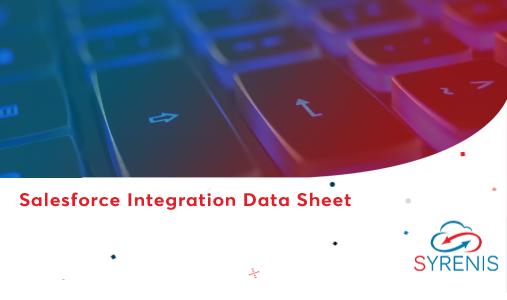 Salesforce Integration Data Sheet