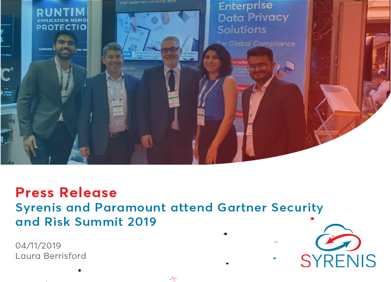 Syrenis attend the renowned, Gartner Security & Risk Summit 2019 in Dubai