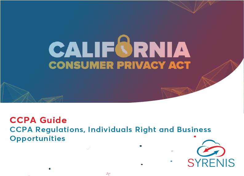 Syrenis Guide to CCPA 2019