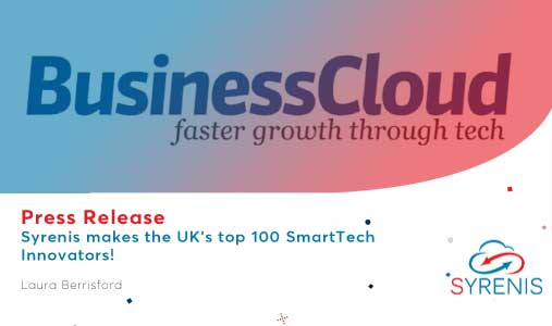 Syrenis makes the UK's top 100 SmartTech Innovators