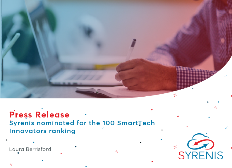 Syrenis nominated for the 100 SmartTech Innovators ranking